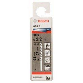 Bosch HSS-G fémfúró, DIN 338 2,2 x 27 x 53 mm