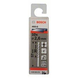 Bosch HSS-G fémfúró, DIN 338 2,6 x 30 x 57 mm