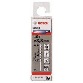 Bosch HSS-G fémfúró, DIN 338 3,8 x 43 x 75 mm