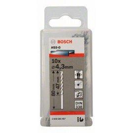 Bosch HSS-G fémfúró, DIN 338 4,3 x 47 x 80 mm