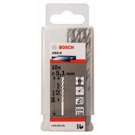 Bosch HSS-G fémfúró, DIN 338 5,1 x 52 x 86 mm