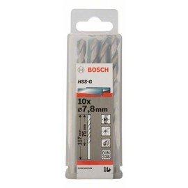 Bosch HSS-G fémfúró, DIN 338 7,8 x 75 x 117 mm