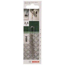 Bosch HSS-G fémfúró, DIN 338 D= 2,5 mm; L= 57 mm