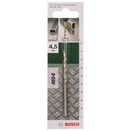 Bosch HSS-G fémfúró, DIN 338 D= 4,5 mm; L= 80 mm