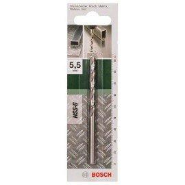 Bosch HSS-G fémfúró, DIN 338 D= 5,5 mm; L= 93 mm