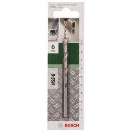 Bosch HSS-G fémfúró, DIN 338 D= 6,0 mm; L= 93 mm