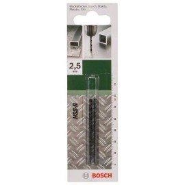 Bosch HSS-R fémfúró, DIN 338 D= 2,5 mm; L= 57 mm