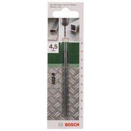 Bosch HSS-R fémfúró, DIN 338 D= 4,5 mm; L= 80 mm