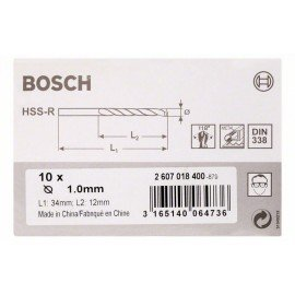 Bosch HSS-R fémfúrók, DIN 338 1 x 12 x 34 mm