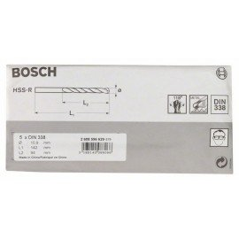 Bosch HSS-R fémfúrók, DIN 338 10,9 x 94 x 142 mm