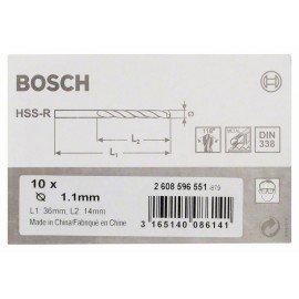 Bosch HSS-R fémfúrók, DIN 338 1,1 x 14 x 36 mm
