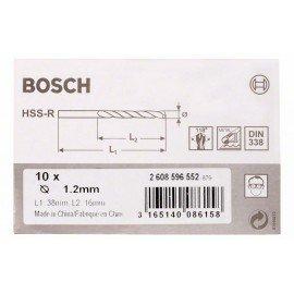 Bosch HSS-R fémfúrók, DIN 338 1,2 x 16 x 38 mm