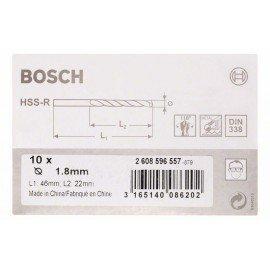 Bosch HSS-R fémfúrók, DIN 338 1,8 x 22 x 46 mm