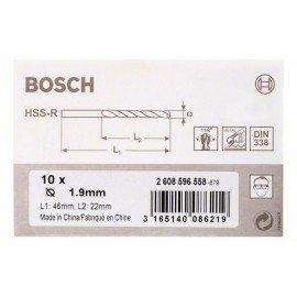Bosch HSS-R fémfúrók, DIN 338 1,9 x 22 x 46 mm