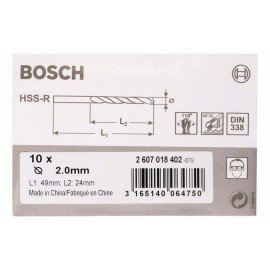 Bosch HSS-R fémfúrók, DIN 338 2 x 24 x 49 mm
