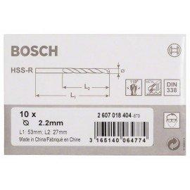 Bosch HSS-R fémfúrók, DIN 338 2,2 x 27 x 53 mm