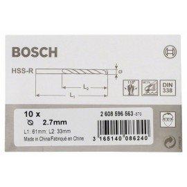 Bosch HSS-R fémfúrók, DIN 338 2,7 x 33 x 61 mm