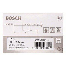 Bosch HSS-R fémfúrók, DIN 338 2,9 x 33 x 61 mm