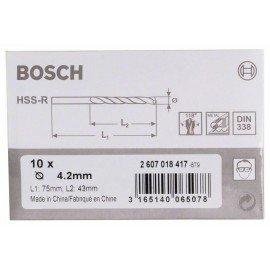 Bosch HSS-R fémfúrók, DIN 338 4,2 x 43 x 75 mm