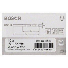 Bosch HSS-R fémfúrók, DIN 338 4,4 x 47 x 80 mm