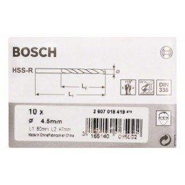 Bosch HSS-R fémfúrók, DIN 338 4,5 x 47 x 80 mm