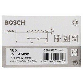 Bosch HSS-R fémfúrók, DIN 338 4,6 x 47 x 80 mm