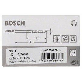 Bosch HSS-R fémfúrók, DIN 338 4,7 x 47 x 80 mm