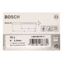 Bosch HSS-R fémfúrók, DIN 338 5,3 x 52 x 86 mm