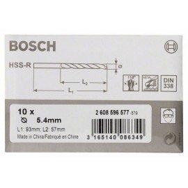 Bosch HSS-R fémfúrók, DIN 338 5,4 x 57 x 93 mm
