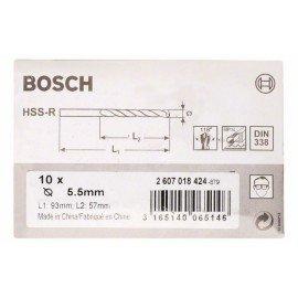 Bosch HSS-R fémfúrók, DIN 338 5,5 x 57 x 93 mm