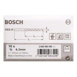 Bosch HSS-R fémfúrók, DIN 338 6,2 x 63 x 101 mm