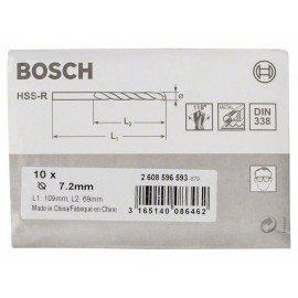 Bosch HSS-R fémfúrók, DIN 338 7,2 x 69 x 109 mm
