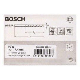 Bosch HSS-R fémfúrók, DIN 338 7,4 x 69 x 109 mm
