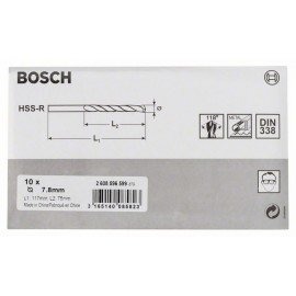 Bosch HSS-R fémfúrók, DIN 338 7,8 x 75 x 117 mm