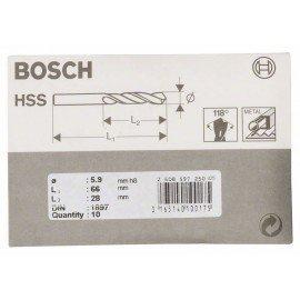 Bosch HSS-R karosszéria fúró, DIN 1897 5,9 x 28 x 66 mm