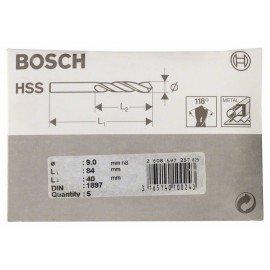 Bosch HSS-R karosszéria fúró, DIN 1897 9 x 40 x 84 mm