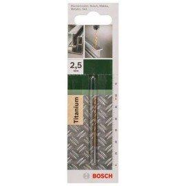 Bosch HSS-TiN fémfúró, DIN 338 D= 2,5 mm; L= 57 mm
