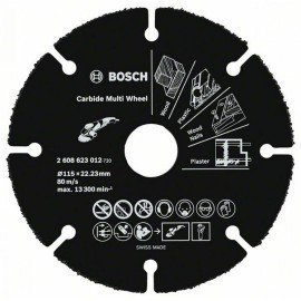 Bosch Keményfém darabolótárcsa, Multi Wheel 115mm; 1 mm; 22,23 mm