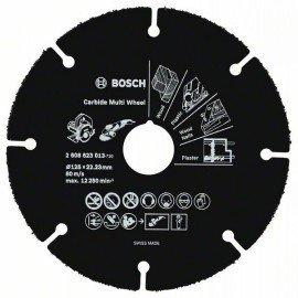 Bosch Keményfém darabolótárcsa, Multi Wheel 125 mm; 1 mm; 22,23 mm