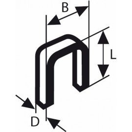 Bosch Keskenyhátú kapocs, típus: 55 6 x 1,08 x 14 mm