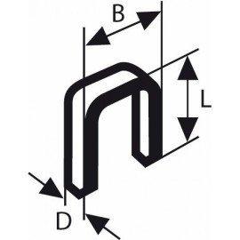 Bosch Keskenyhátú kapocs; típus: 55, gyantázott 6 x 1,08 x 19 mm