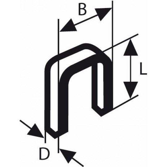 Bosch Keskenyhátú kapocs; típus: 55, gyantázott 6 x 1,08 x 23 mm