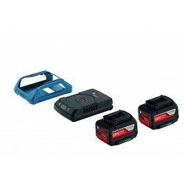 Bosch Kezdőkészlet: 2 db GBA 18V 4.0Ah W + GAL 1830 W vezeték nélküli töltő