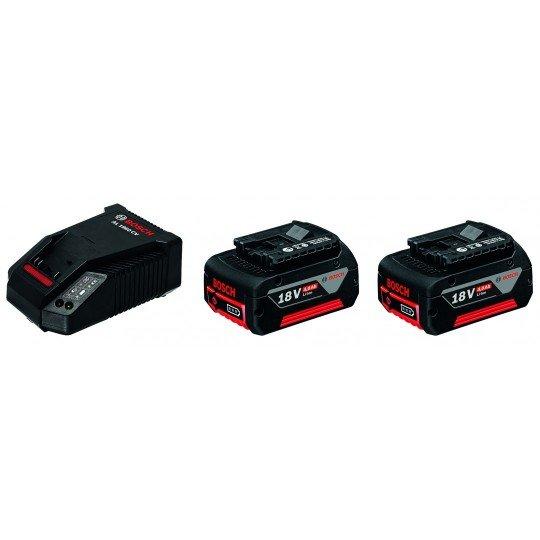 Bosch Kezdőkészlet: 2 x GBA 18V 4,0 Ah + AL 1860 CV