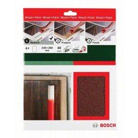 Bosch Kézi csiszolópapír, Universal Remove, 230 x 280 mm, P40 4 x G= 40