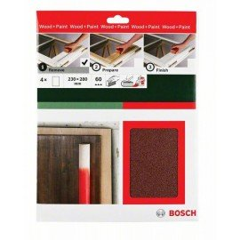 Bosch Kézi csiszolópapír, Universal Remove, 230 x 280 mm, P60 4 x G= 60