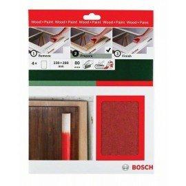Bosch Kézi csiszolópapír, Universal Remove, 230 x 280 mm, P80 4 x G= 80