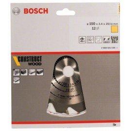 Bosch Körfűrészlap, Construct Wood 150 x 20/16 x 2,4 mm; 12