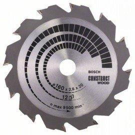 Bosch Körfűrészlap, Construct Wood 160 x 20/16 x 2,6 mm; 12