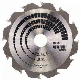 Bosch Körfűrészlap, Construct Wood 180 x 30/20 x 2,6 mm; 12